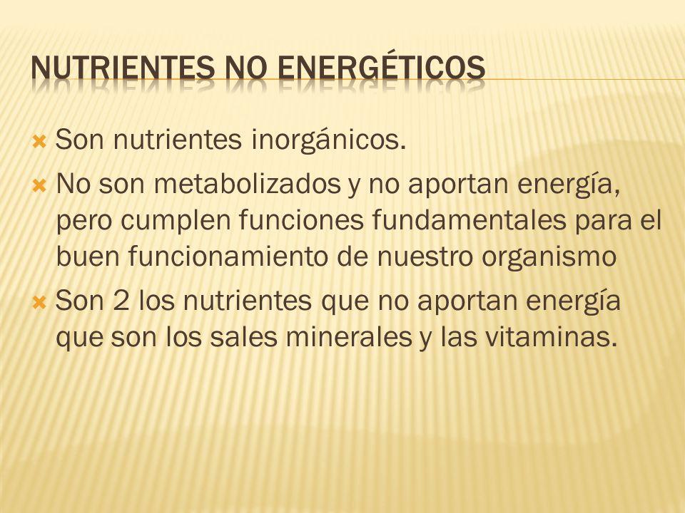 Nutrientes no energéticos