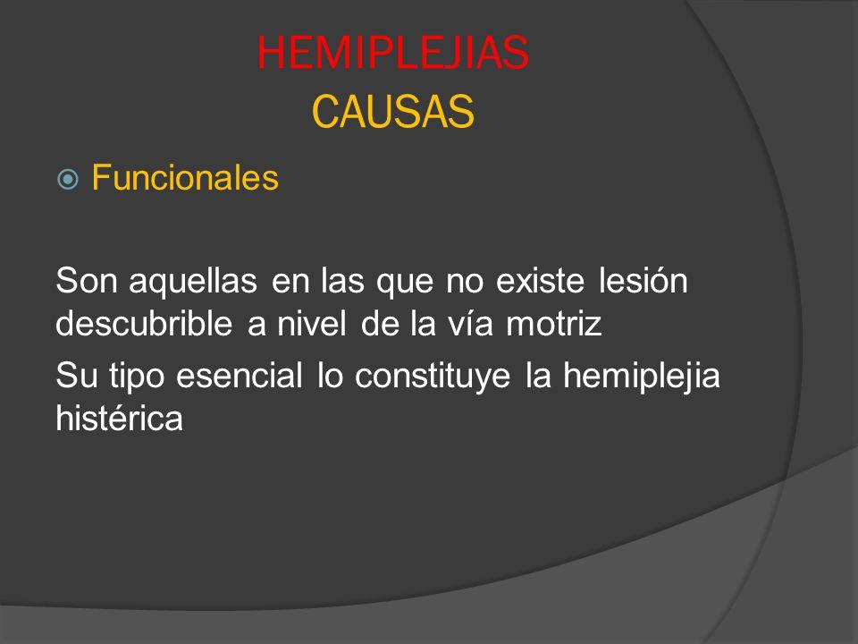 HEMIPLEJIAS CAUSAS Funcionales