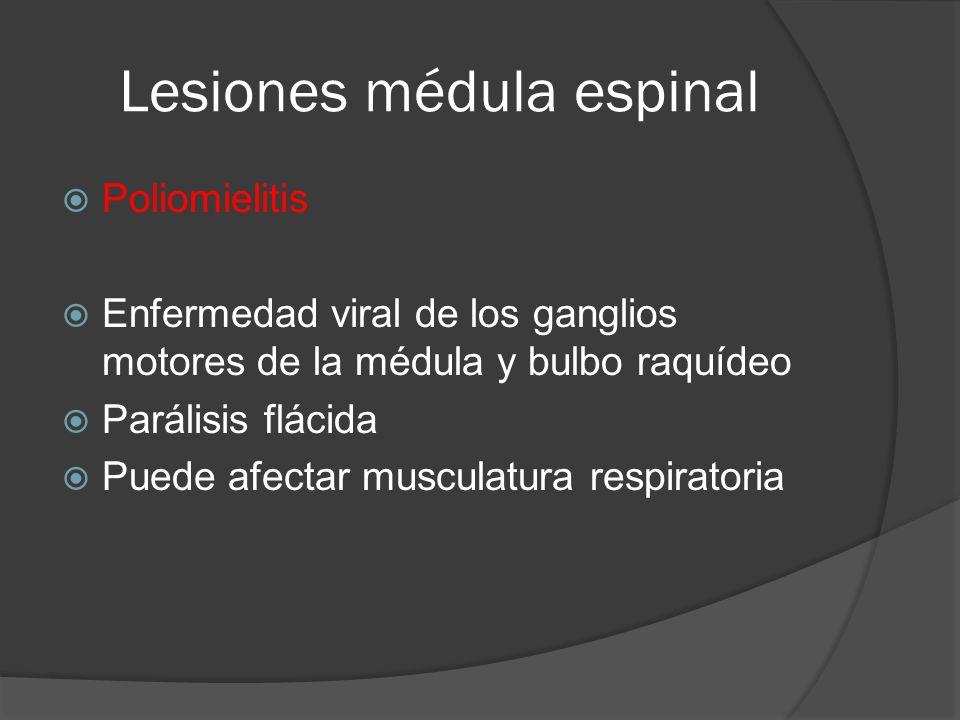Lesiones médula espinal