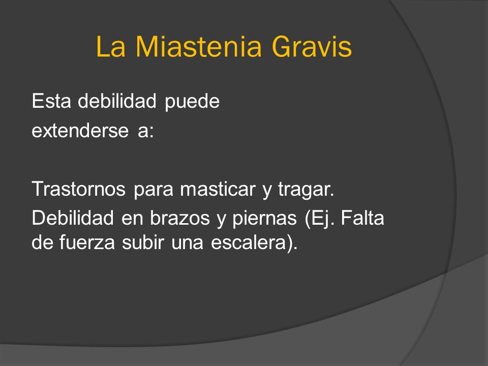 La Miastenia Gravis
