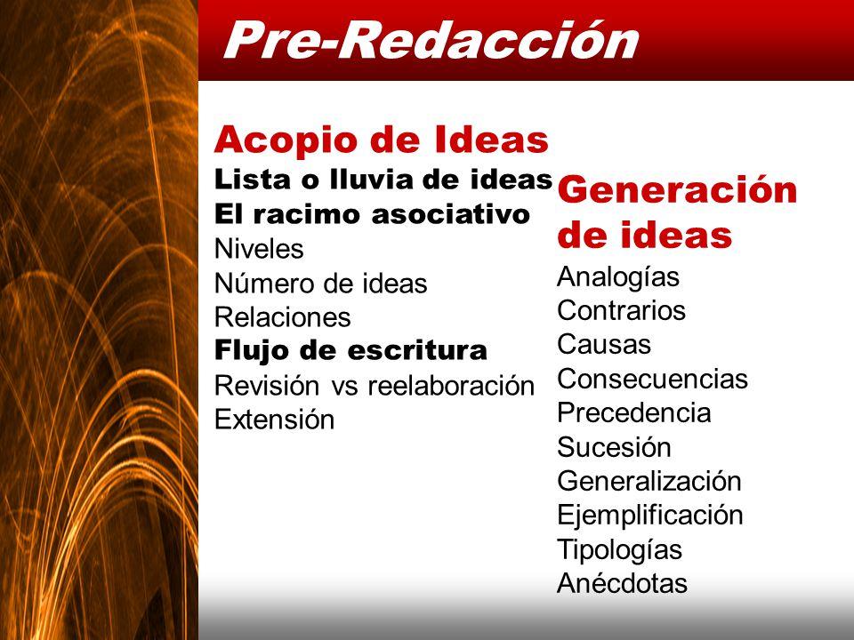 Pre-Redacción