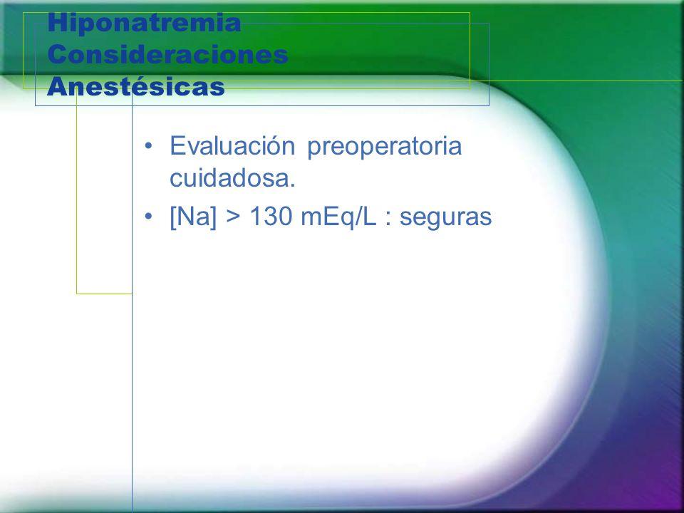 Hiponatremia Consideraciones Anestésicas
