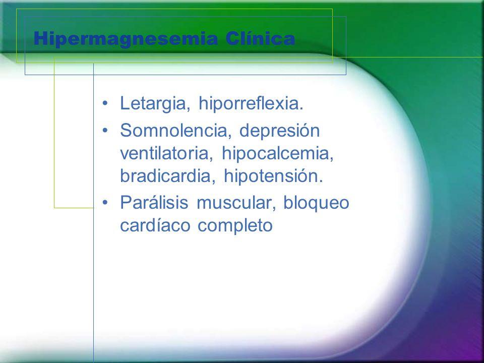 Hipermagnesemia Clínica