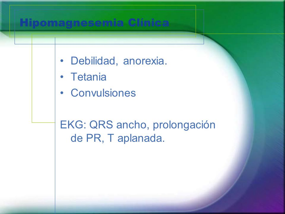 Hipomagnesemia Clínica