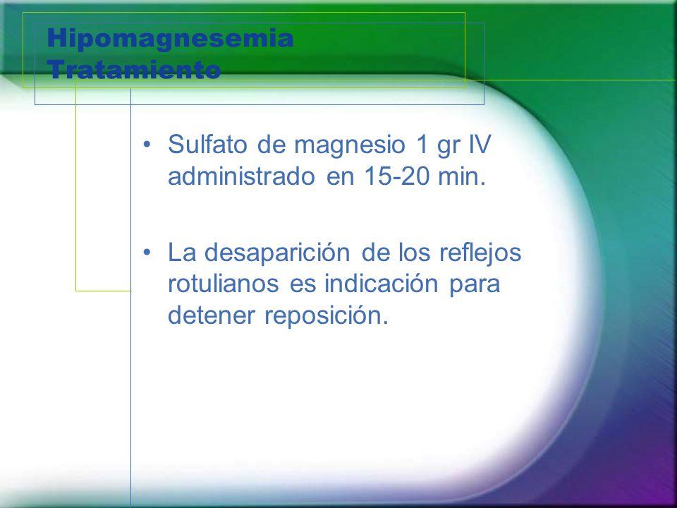 Hipomagnesemia Tratamiento