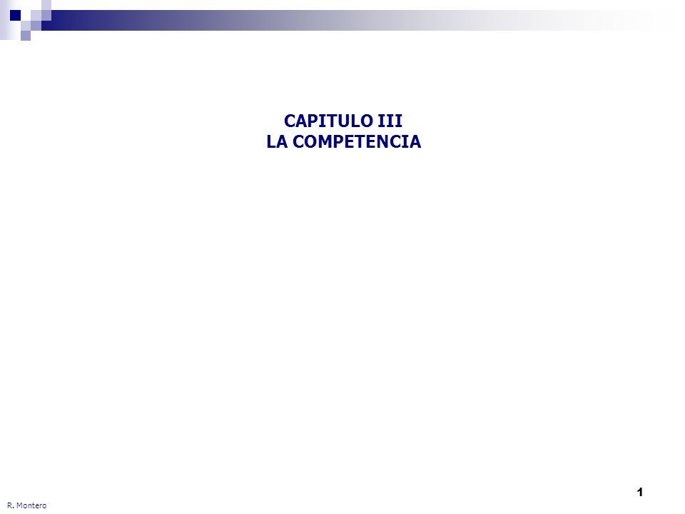 CAPITULO III LA COMPETENCIA