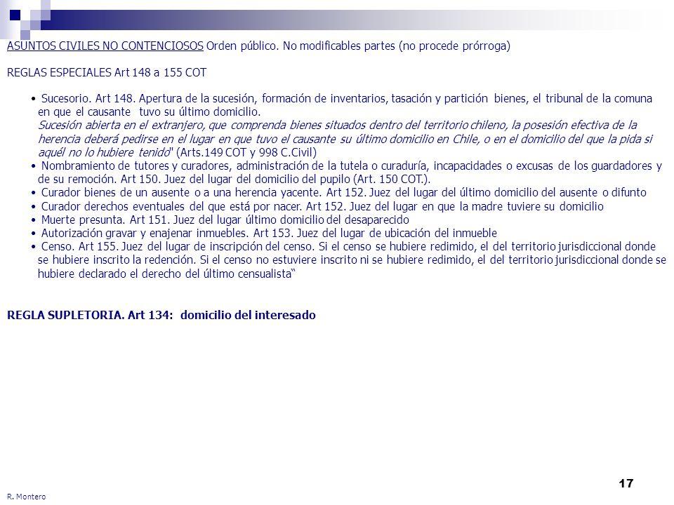 REGLAS ESPECIALES Art 148 a 155 COT