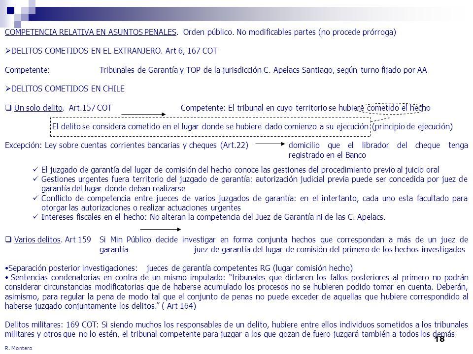 DELITOS COMETIDOS EN EL EXTRANJERO. Art 6, 167 COT
