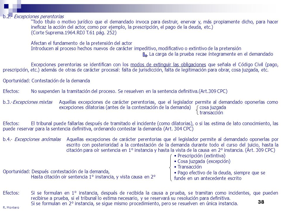 b.2.- Excepciones perentorias