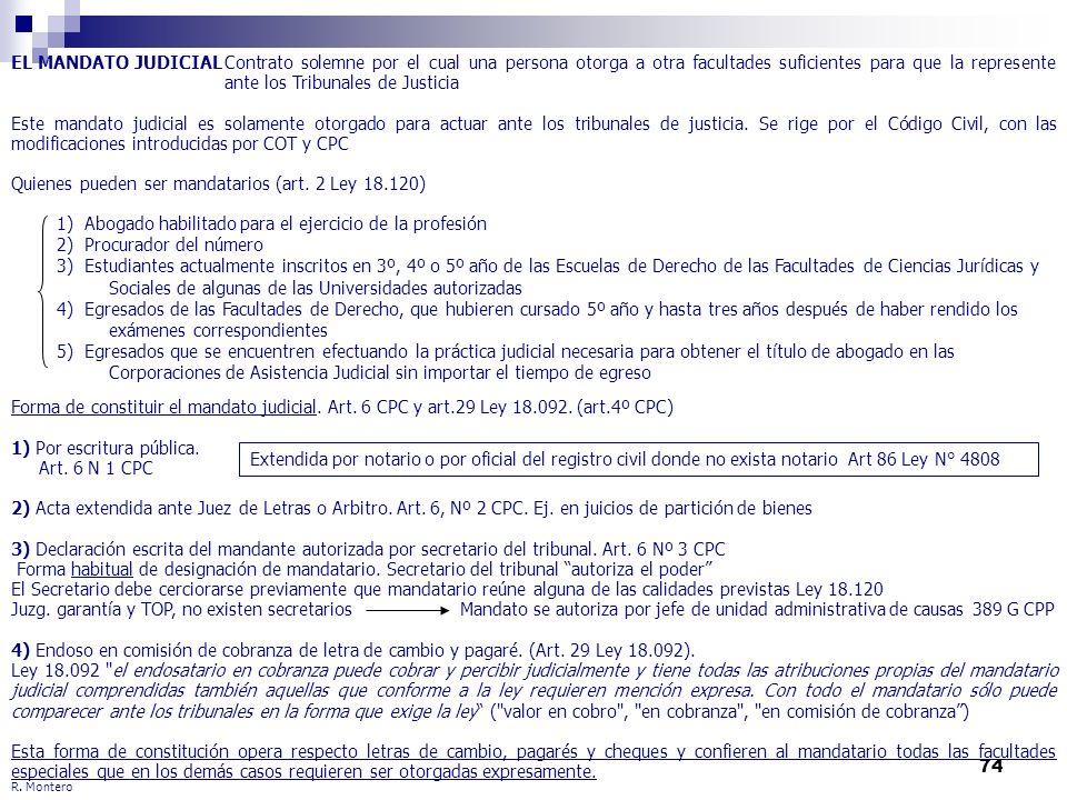 Quienes pueden ser mandatarios (art. 2 Ley 18.120)