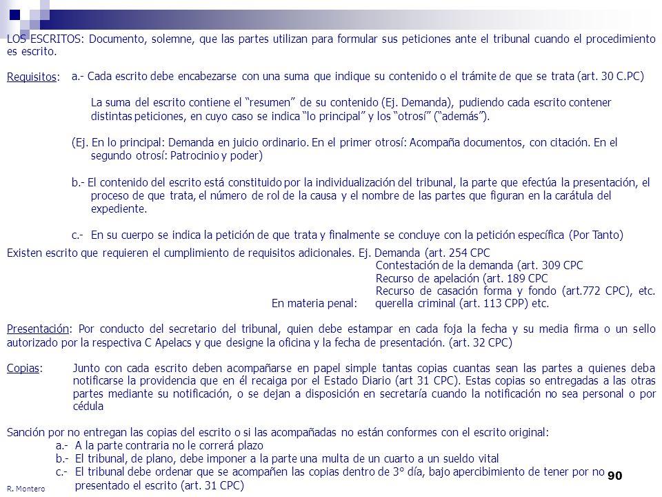 Contestación de la demanda (art. 309 CPC
