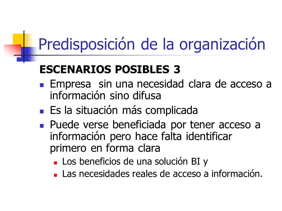 Predisposición de la organización