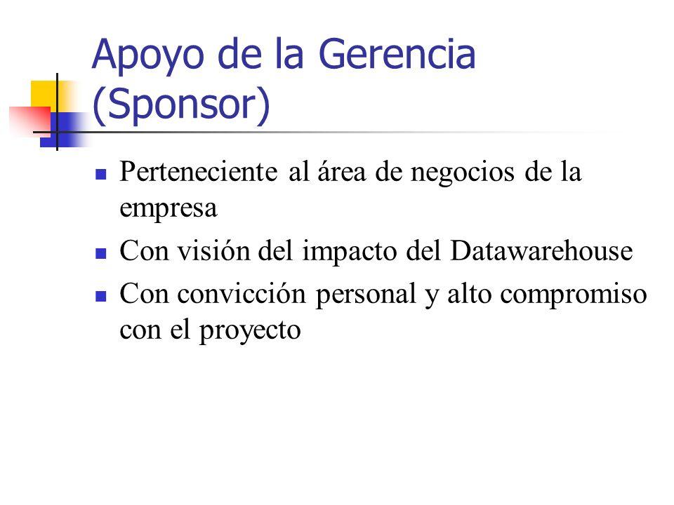 Apoyo de la Gerencia (Sponsor)