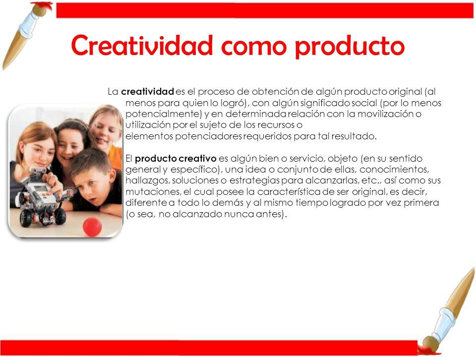 Creatividad como producto