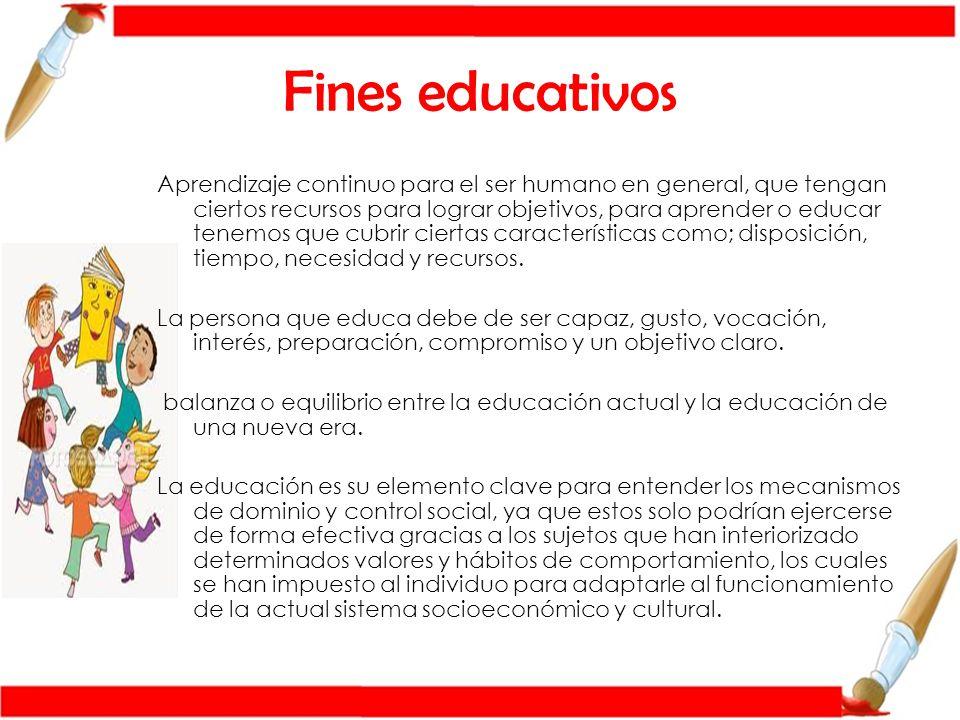 Fines educativos