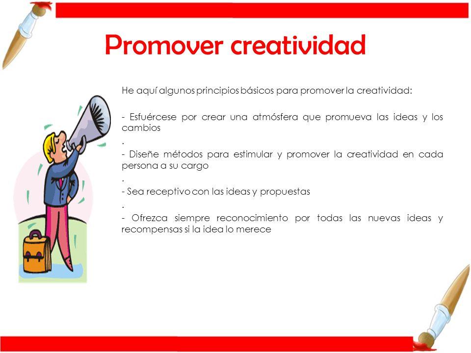 Promover creatividad