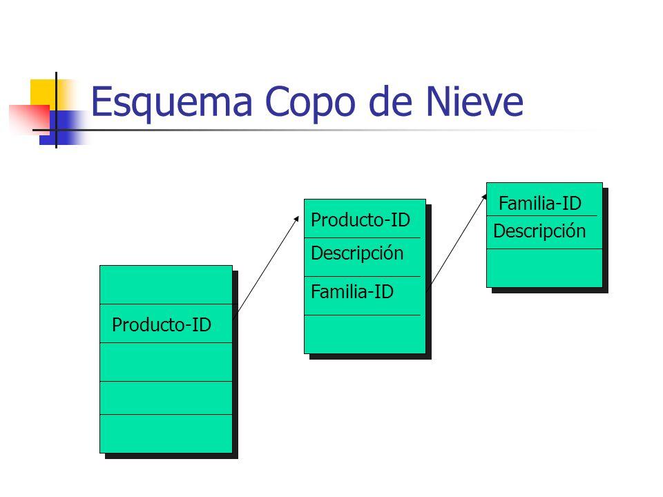 Esquema Copo de Nieve Familia-ID Producto-ID Descripción Descripción