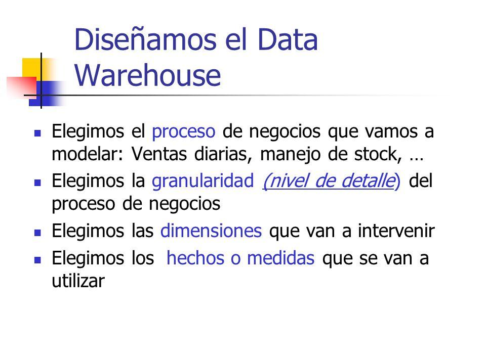 Diseñamos el Data Warehouse