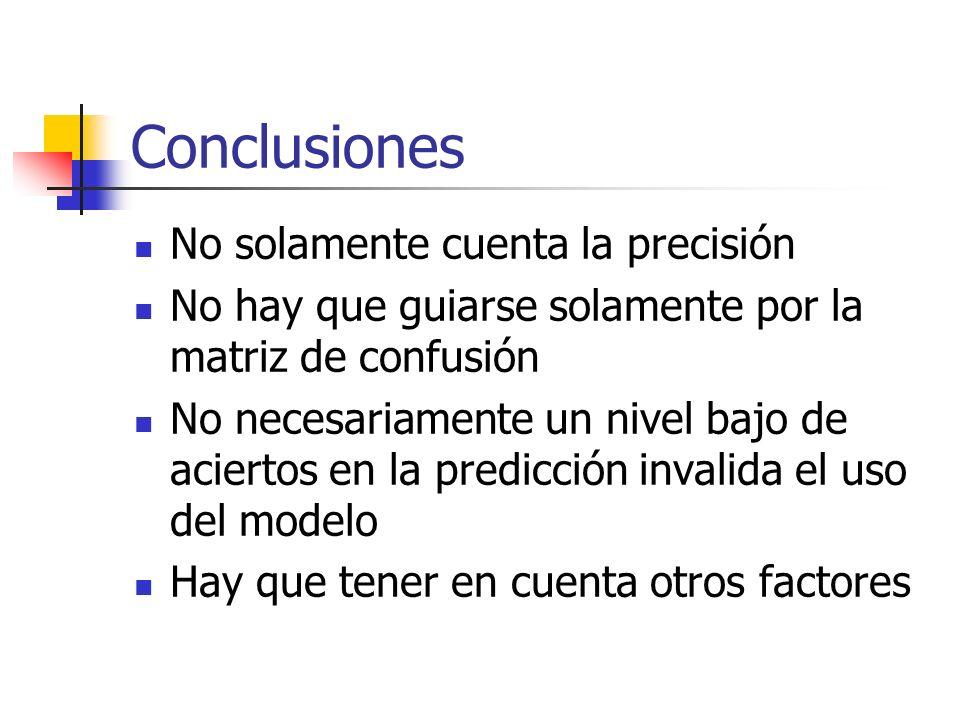 Conclusiones No solamente cuenta la precisión