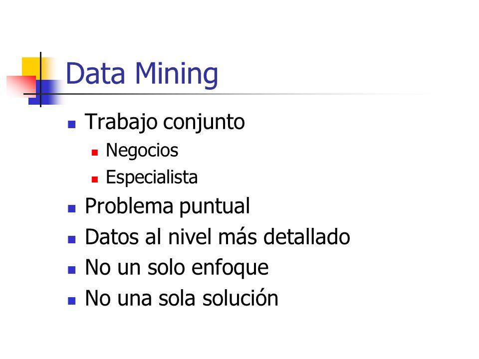 Data Mining Trabajo conjunto Problema puntual