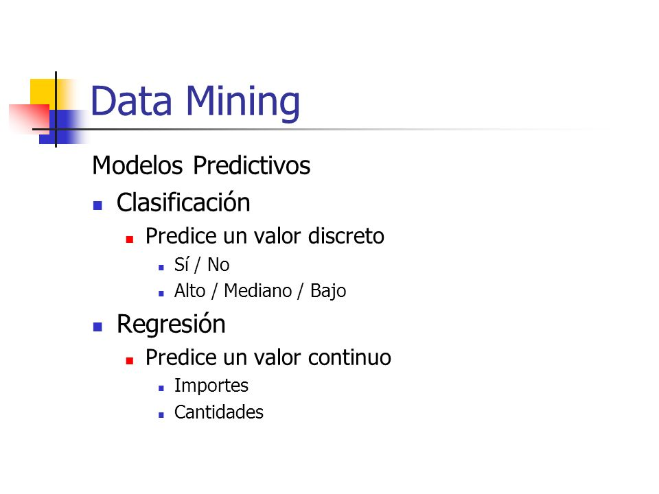 Data Mining Modelos Predictivos Clasificación Regresión