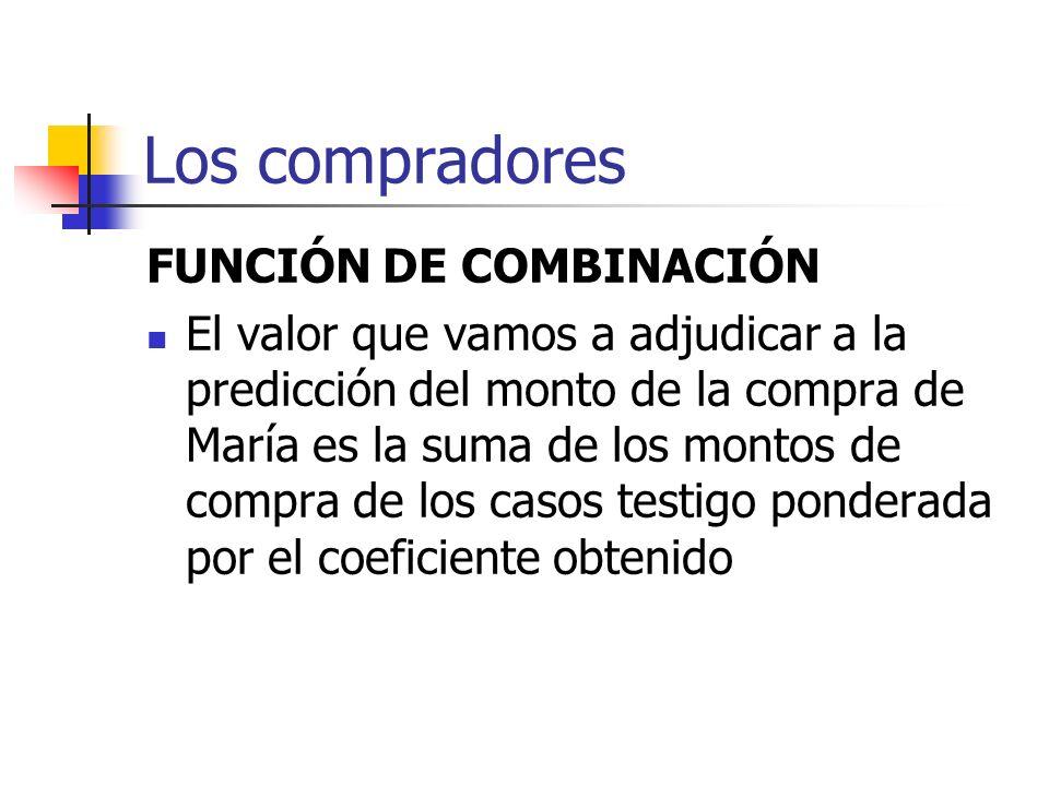 Los compradores FUNCIÓN DE COMBINACIÓN