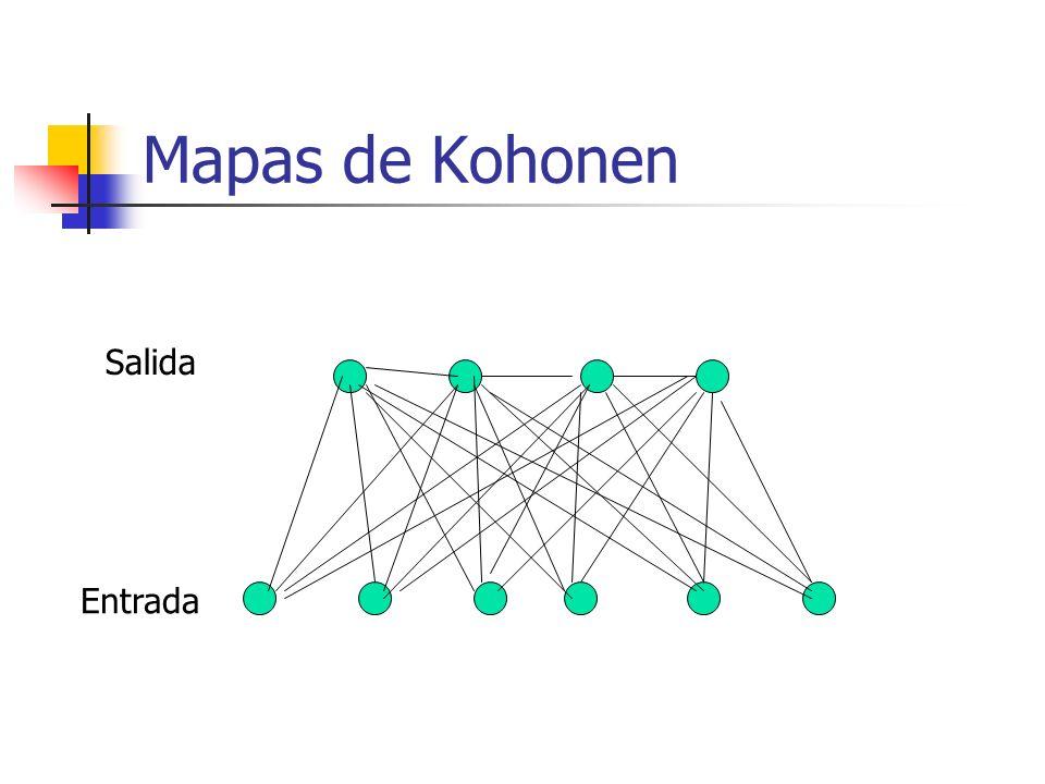 Mapas de Kohonen Salida Entrada