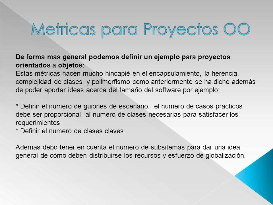 Metricas para Proyectos OO