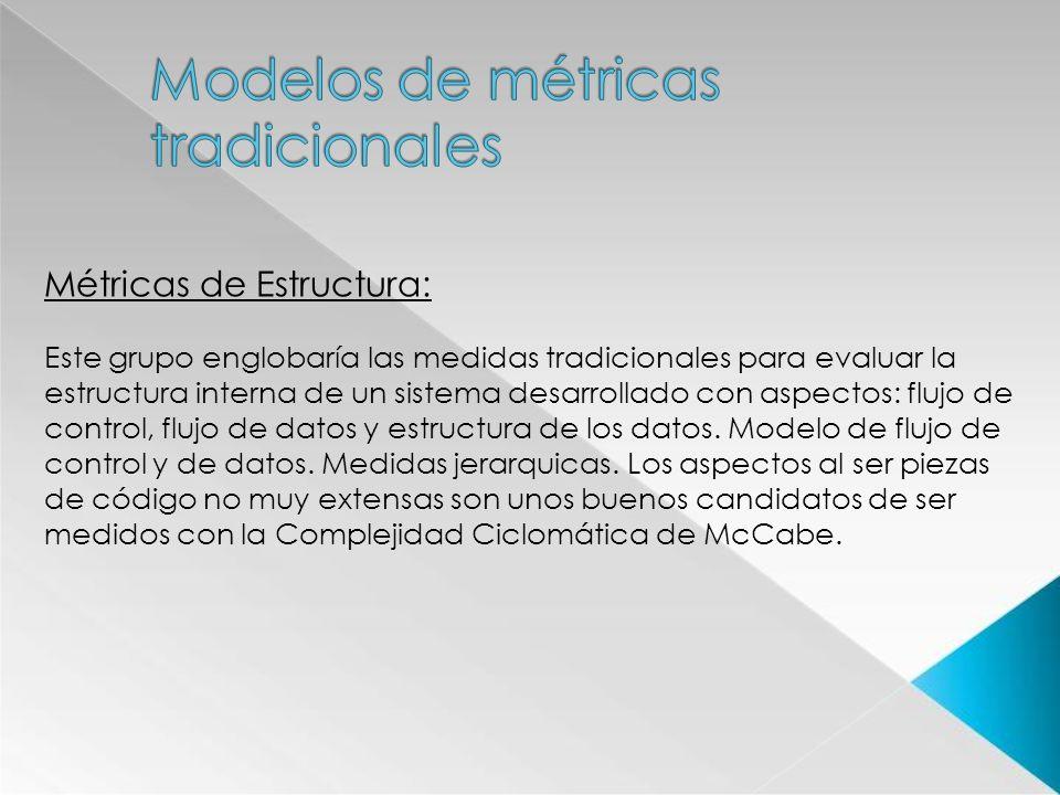 Modelos de métricas tradicionales