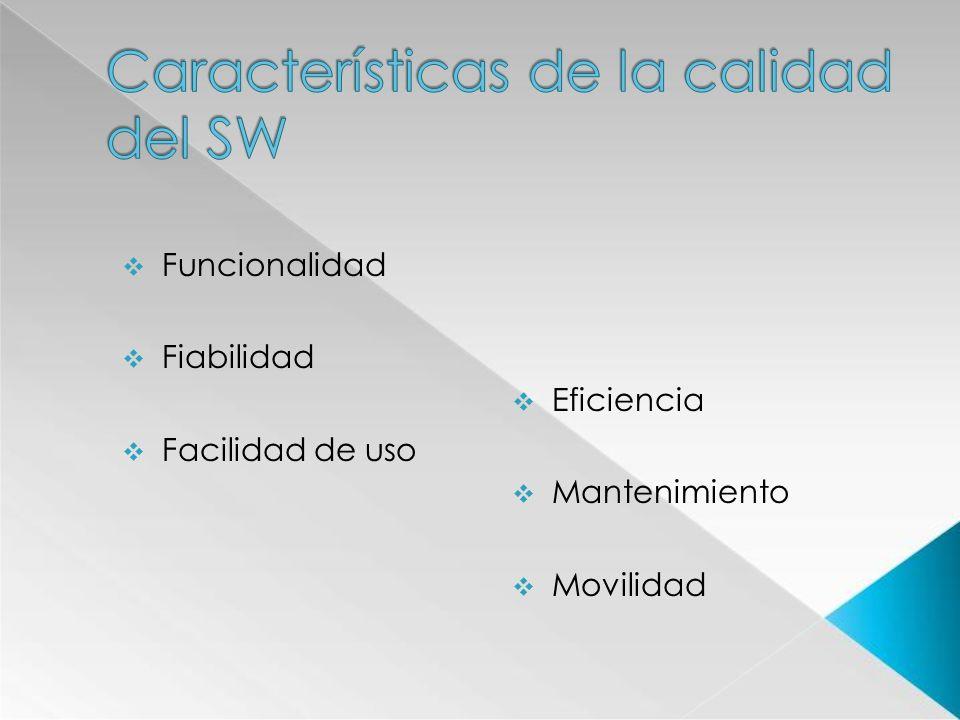 Características de la calidad del SW