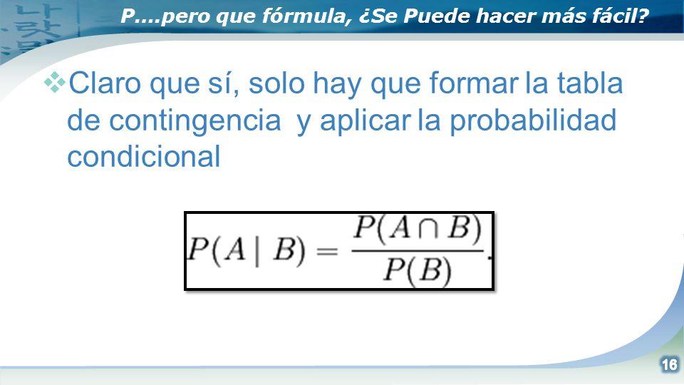 P….pero que fórmula, ¿Se Puede hacer más fácil