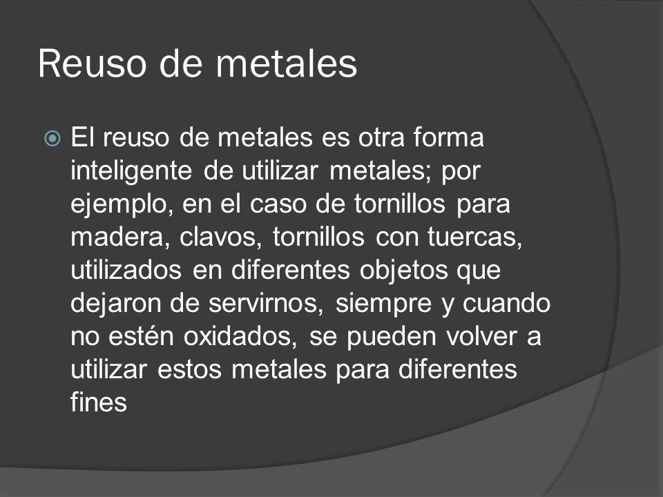 Reuso de metales