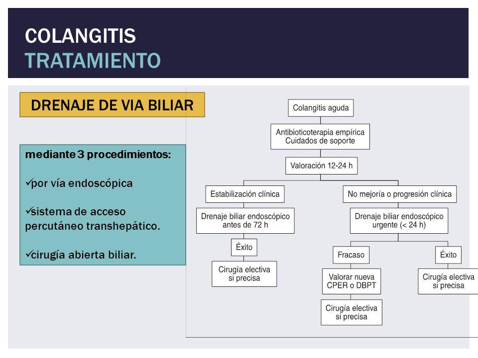 TRATAMIENTO COLANGITIS DRENAJE DE VIA BILIAR