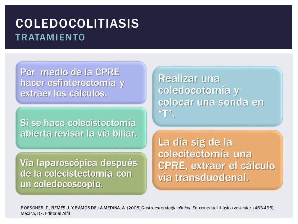 COLEDOCOLITIASIS tratamiento