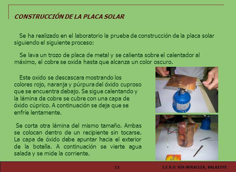 CONSTRUCCIÓN DE LA PLACA SOLAR