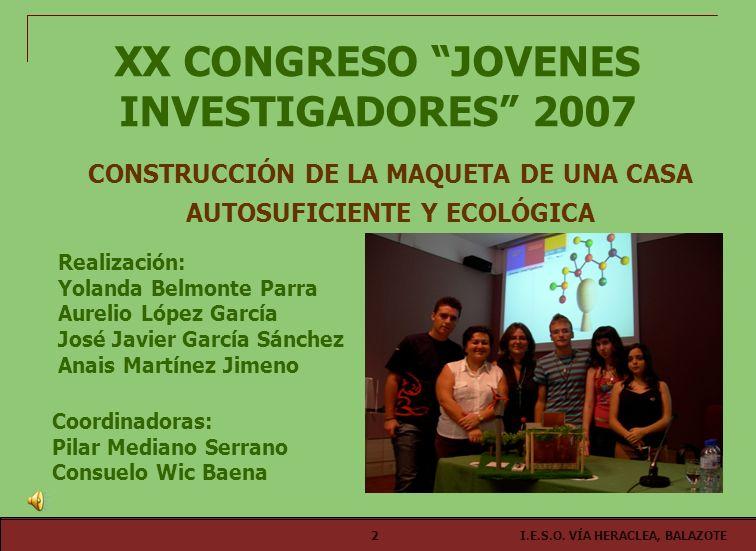 XX CONGRESO JOVENES INVESTIGADORES 2007