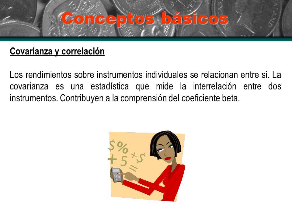Conceptos básicos Covarianza y correlación