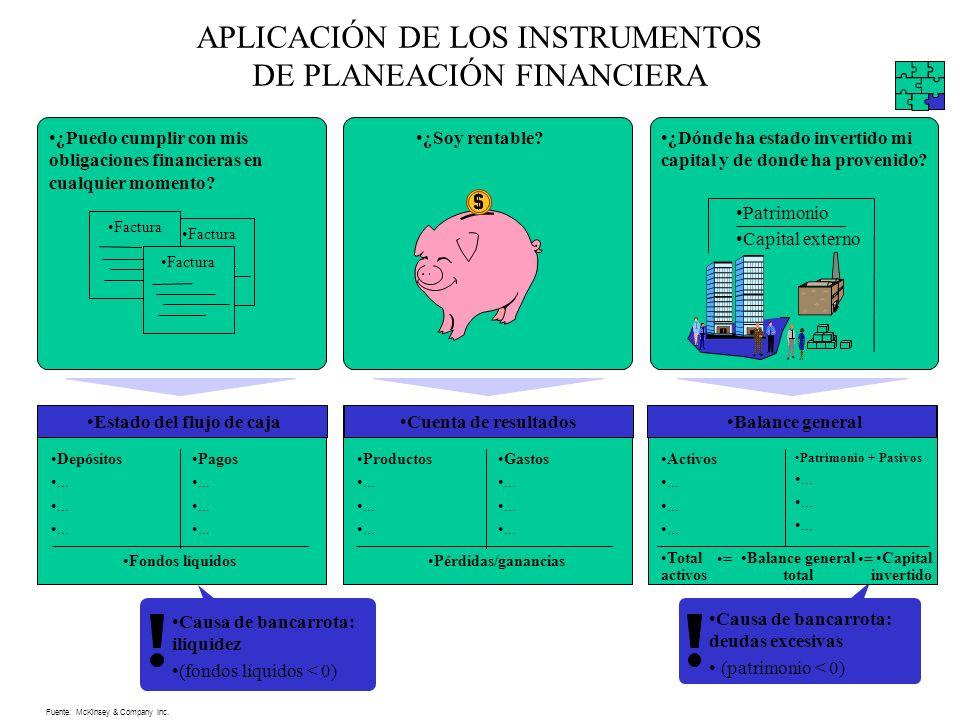 APLICACIÓN DE LOS INSTRUMENTOS DE PLANEACIÓN FINANCIERA