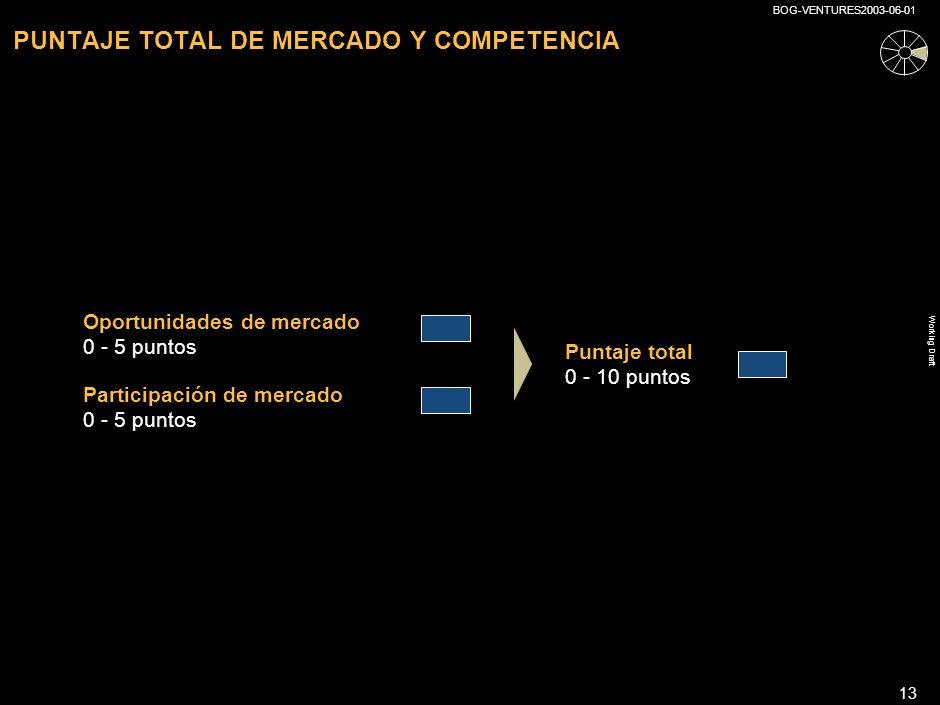 PUNTAJE TOTAL DE MERCADO Y COMPETENCIA