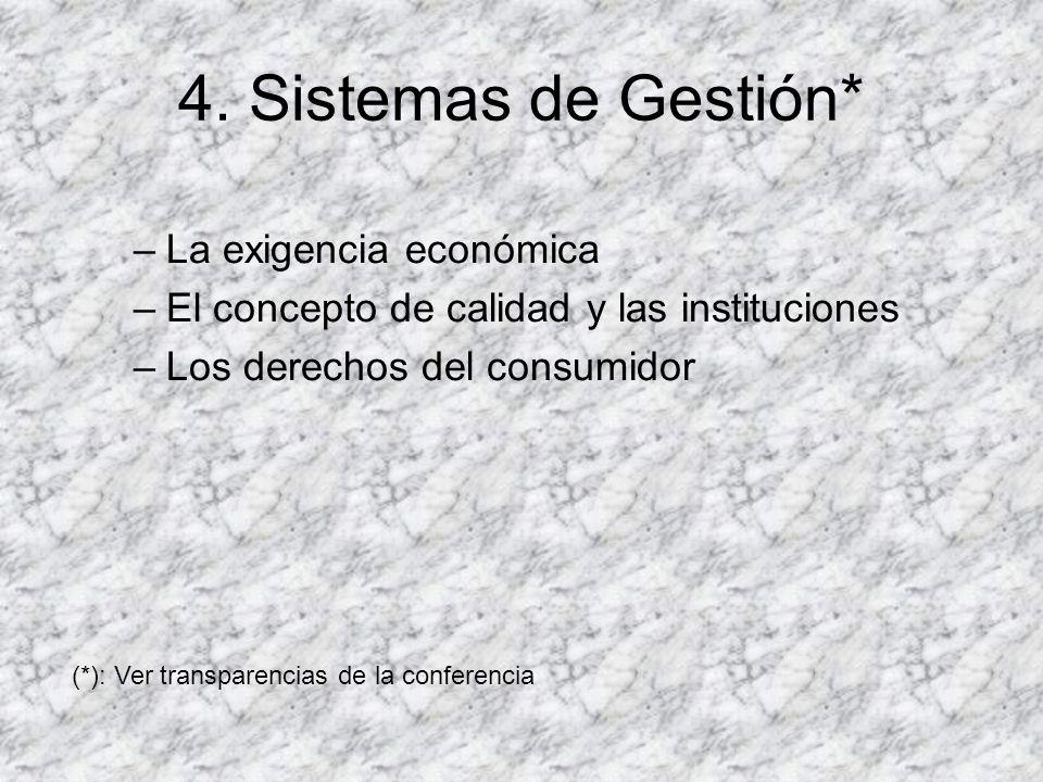 4. Sistemas de Gestión* La exigencia económica