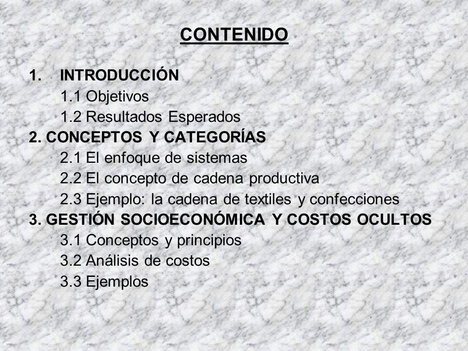 CONTENIDO INTRODUCCIÓN 1.1 Objetivos 1.2 Resultados Esperados