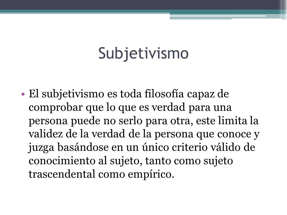 Subjetivismo