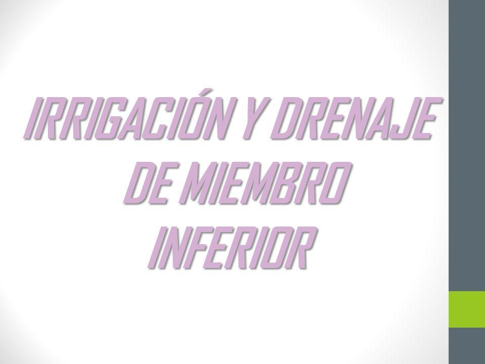 IRRIGACIÓN Y DRENAJE DE MIEMBRO INFERIOR