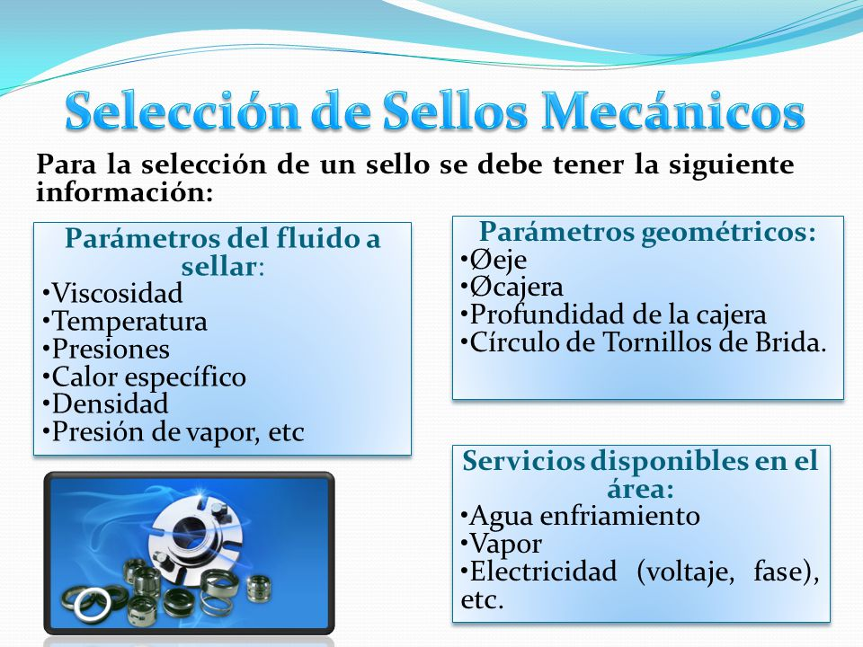 Selección de Sellos Mecánicos Parámetros geométricos: