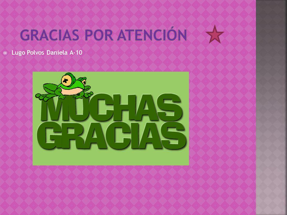 Gracias por atención Lugo Polvos Daniela A-10