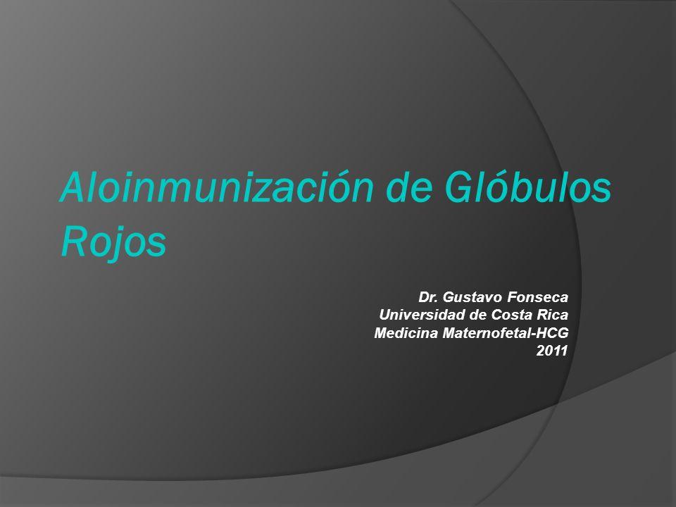 Aloinmunización de Glóbulos Rojos