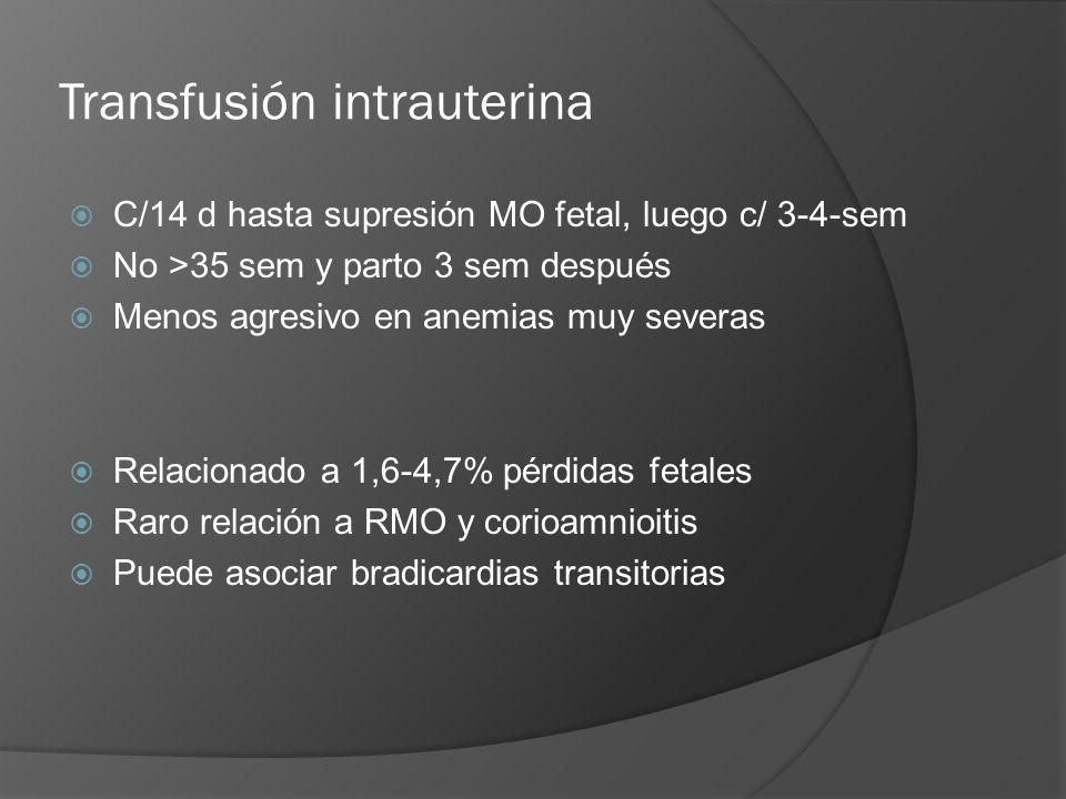 Transfusión intrauterina