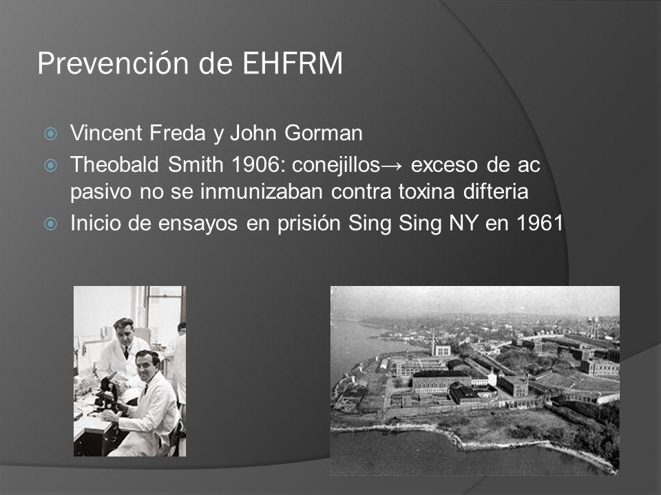 Prevención de EHFRM Vincent Freda y John Gorman