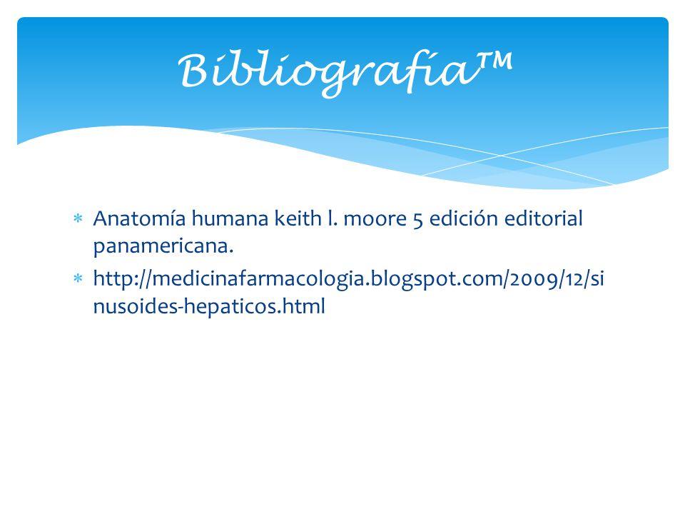 Bibliografía™ Anatomía humana keith l. moore 5 edición editorial panamericana.