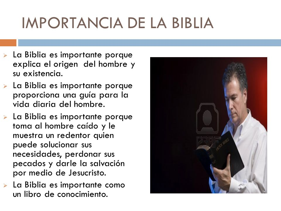 IMPORTANCIA DE LA BIBLIA